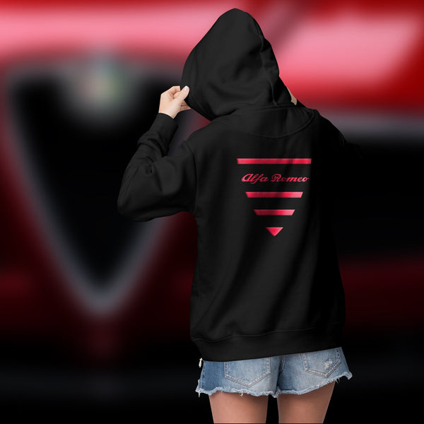 Alfa Romeo scudetto. Women's zip hoodie (embroidery)