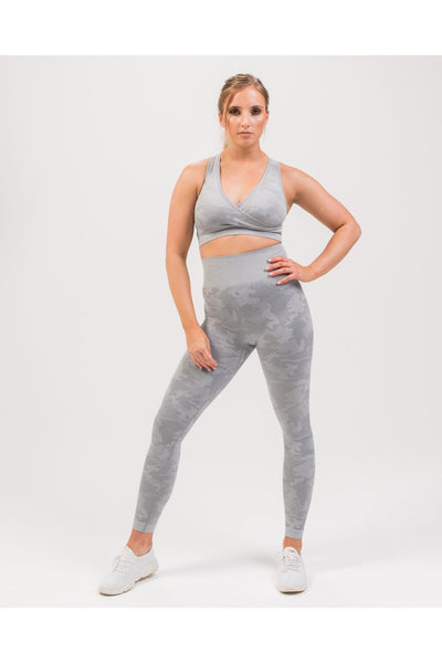 DETERMINED CAMO SEAMLESS LEGGINGS IN GREY - MYOHMYFASHION