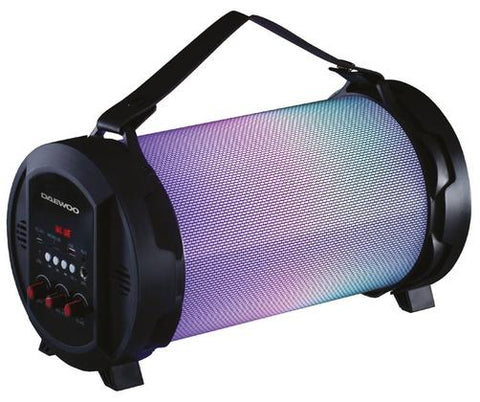 Daewoo Rechargeable Bluetooth LED Tube Speaker With Colour Changing Lights