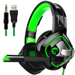 Green LED Gaming Headset