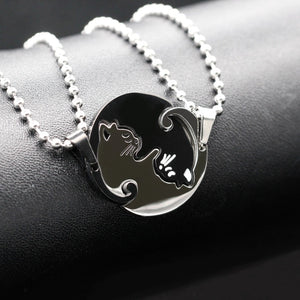 Yin Yang Cat Necklace