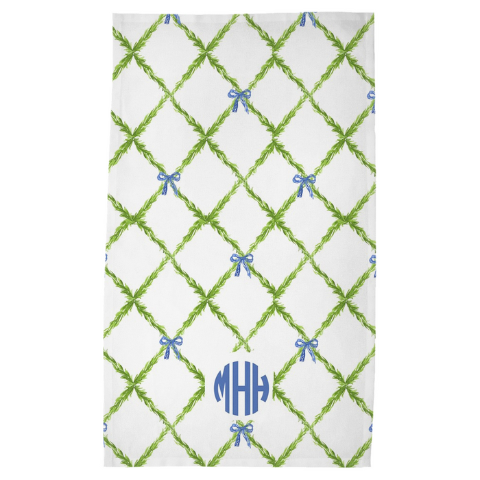 @Meredith_Hudkins Tea Towel- Blue Monogram
