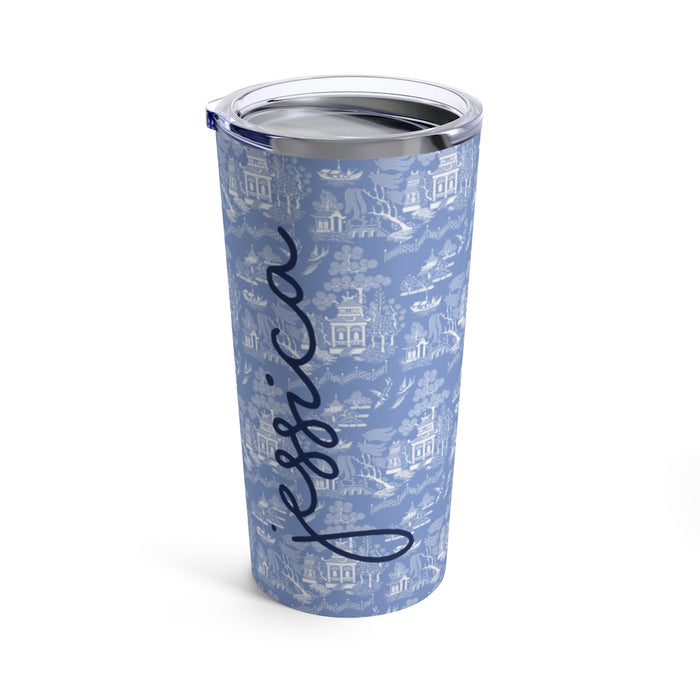 French Blue Chinoiserie Tumbler