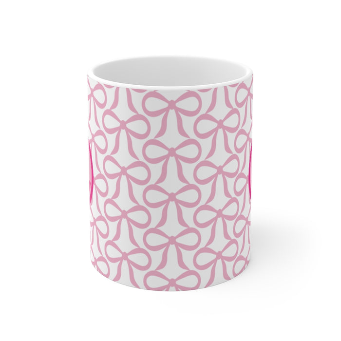 Pink Bow 11 Oz Coffee Mug