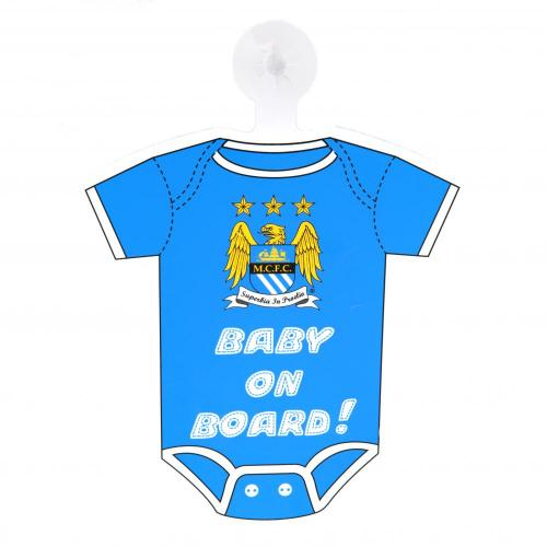 Manchester City FC Baby On Board skilt