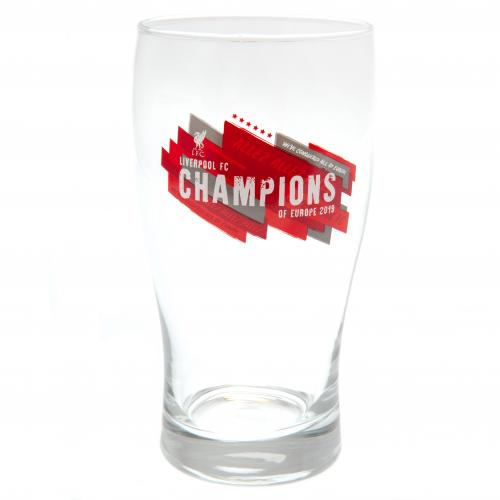 Liverpool FC Champions Of Europe Glas