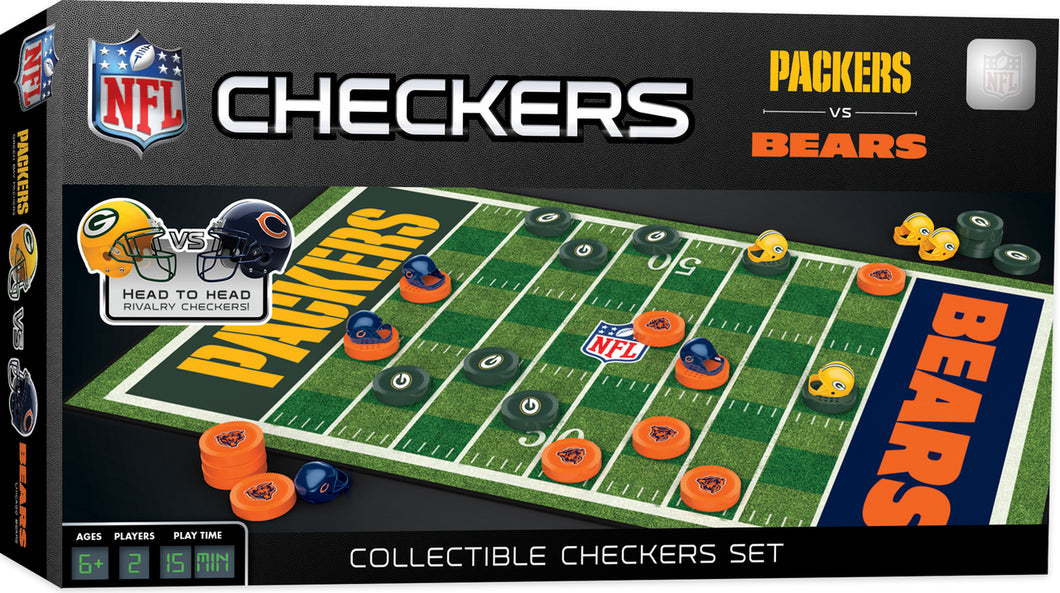 Green Bay Packers Vs. Chicago Bears Checkers Board Game