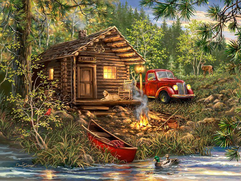 Cozy Cabin Life 500 pc. Puzzle