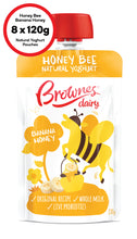 Load image into Gallery viewer, Brownes Dairy Honey Bee Banana Honey Natural Yoghurt 8 x 120g