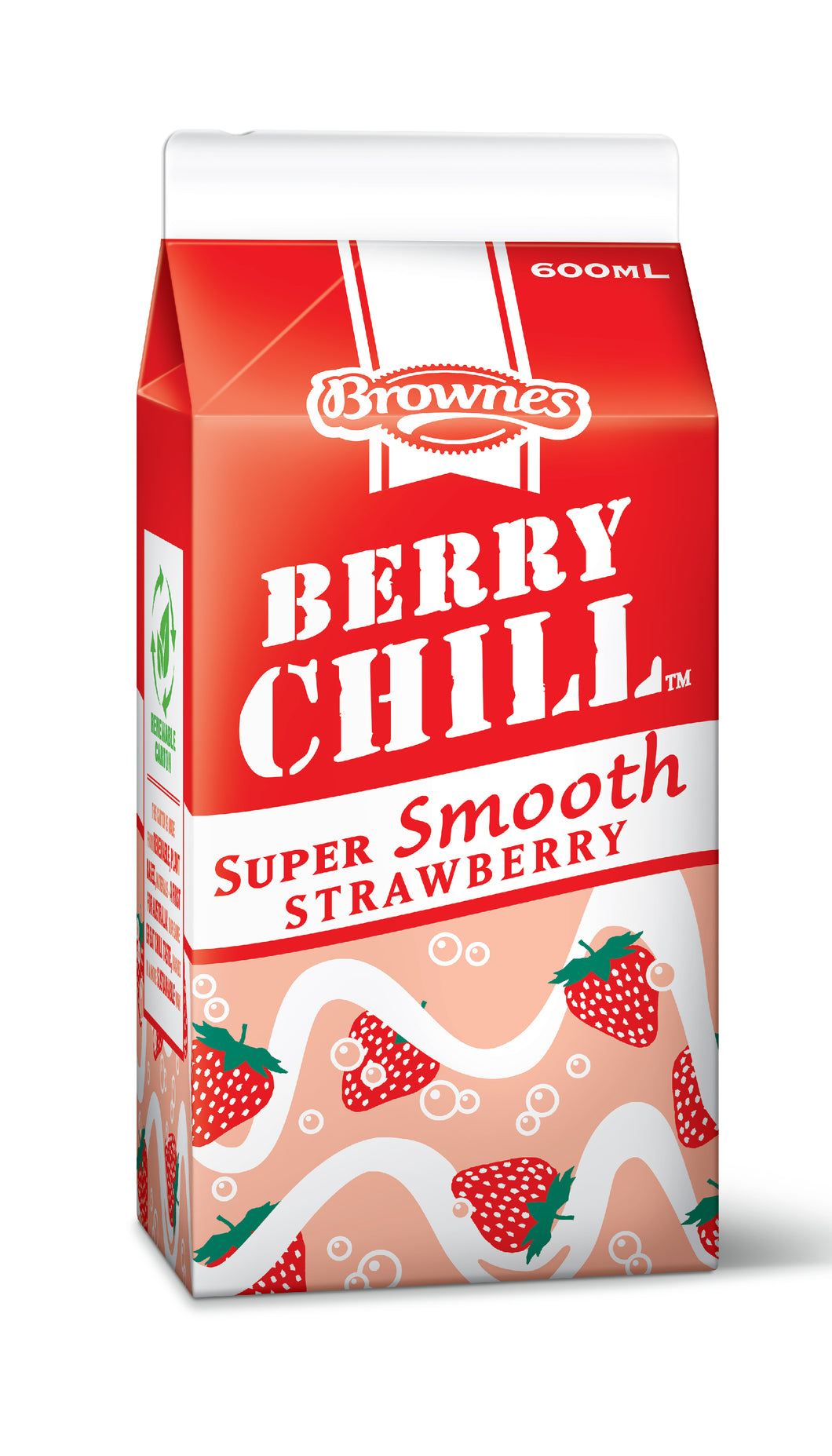 Brownes Strawberry CHILL 600mL