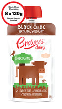 Load image into Gallery viewer, Brownes Dairy Block Choc Chocolate Natural Yoghurt 8 x 120g