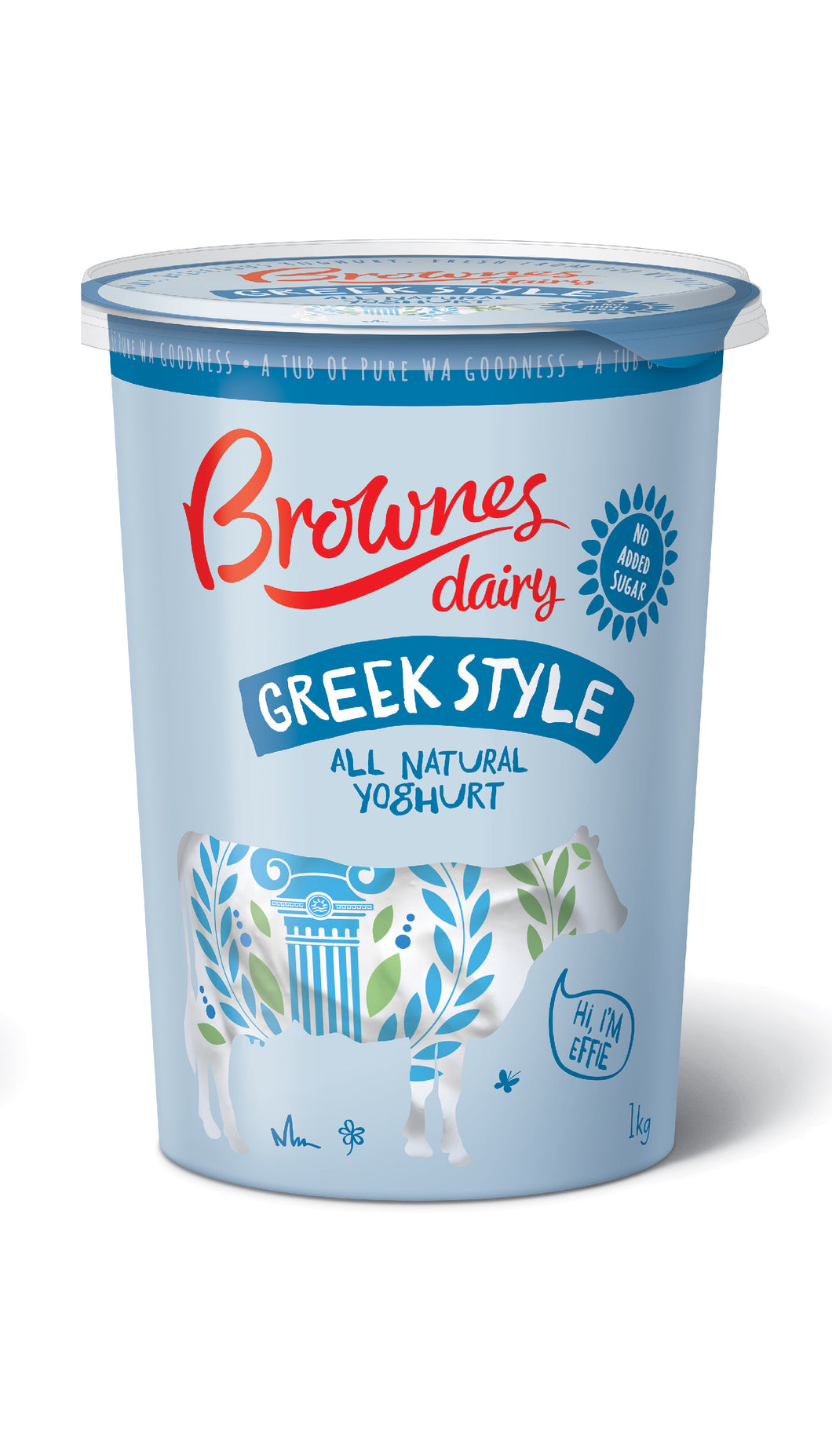 Brownes Dairy Greek Style Natural Yoghurt 1Kg