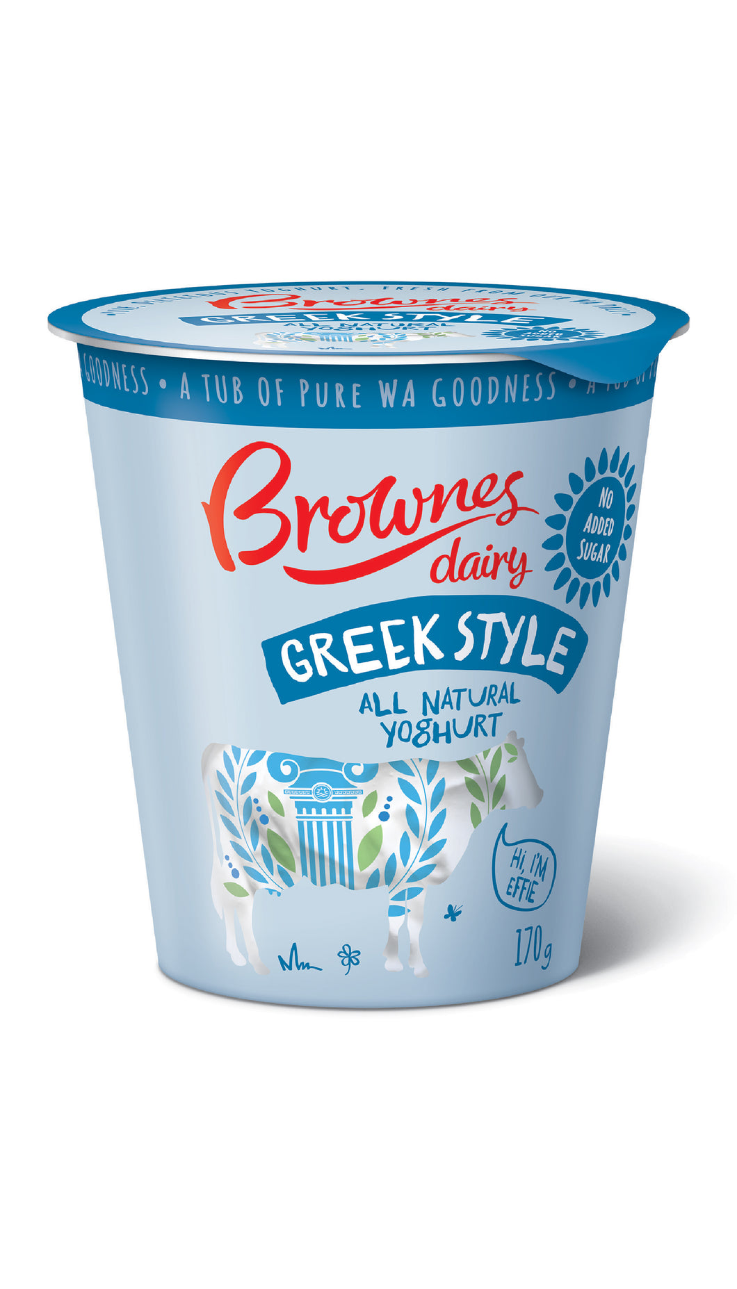 Brownes Greek Natural Yoghurt 170g
