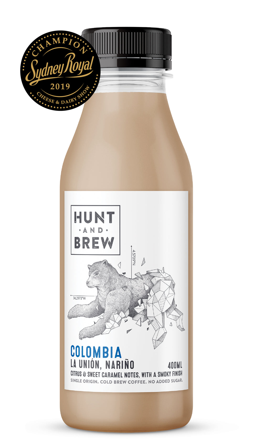 Hunt and Brew | Colombia Single Origin Cold Brew Coffee 400ML