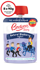 The Wiggles Blueberry Natural Yoghurt (8 x 90g)