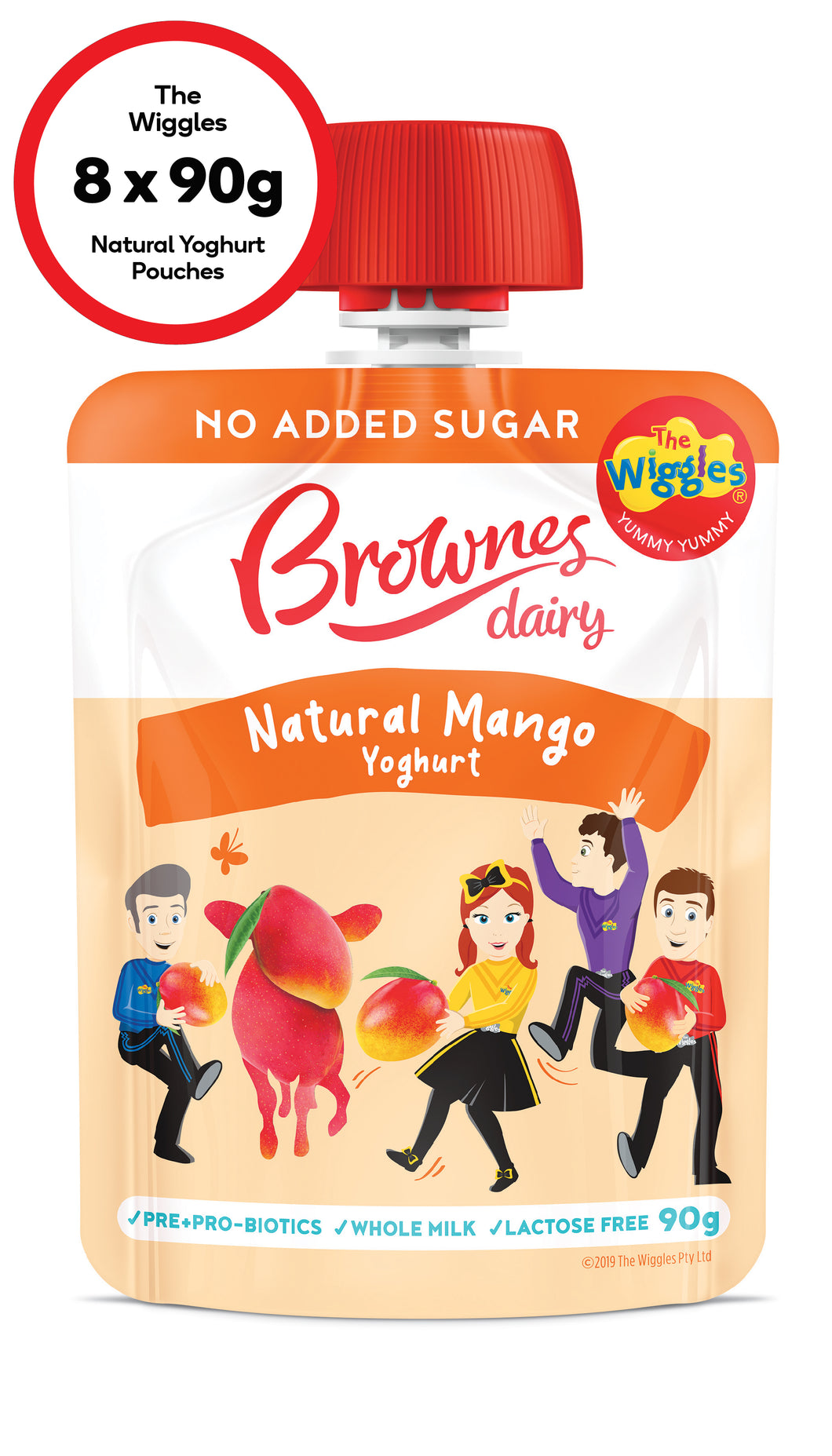 The Wiggles Mango Natural Yoghurt (8 x 90g)