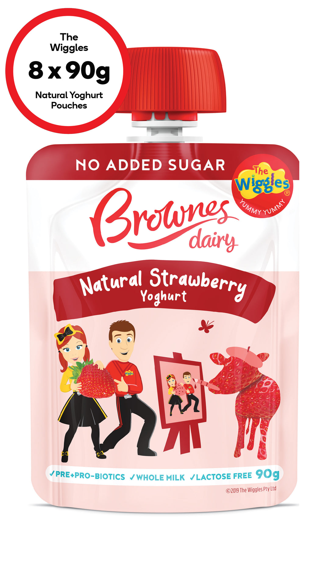 The Wiggles Strawberry Natural Yoghurt (8 x 90g)