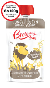 Brownes Dairy Jungle Queen Vanilla Bean Natural Yoghurt 8 x 120g