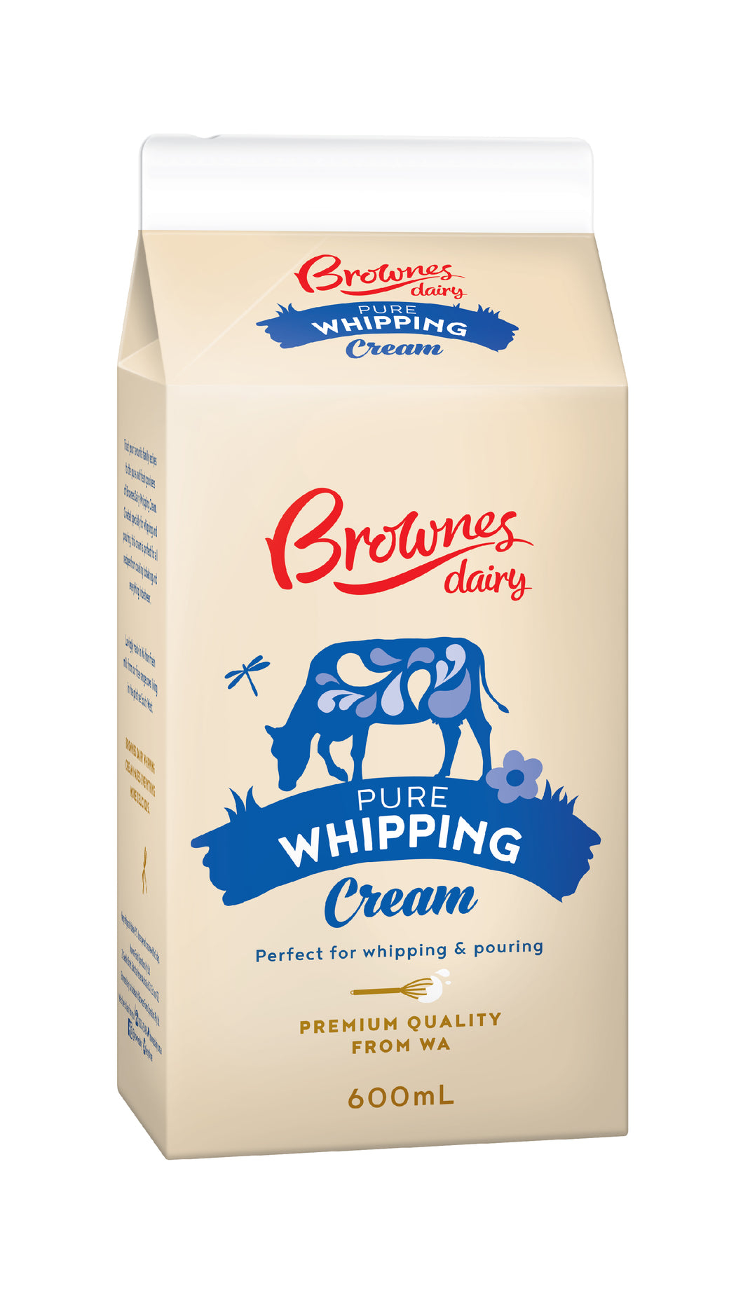 Brownes Dairy Whipping Cream 600mL
