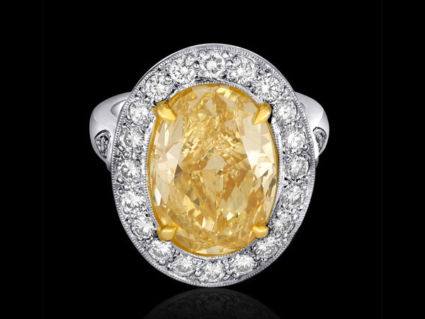 YELLOW DIAMOND RING - BRILLIANT AS SUNLIGHT