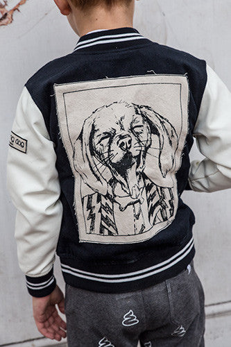 Patched baseball jacket