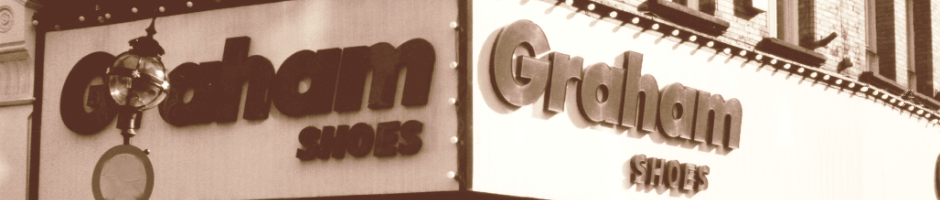 About Graham Shoes | Old picture of the store