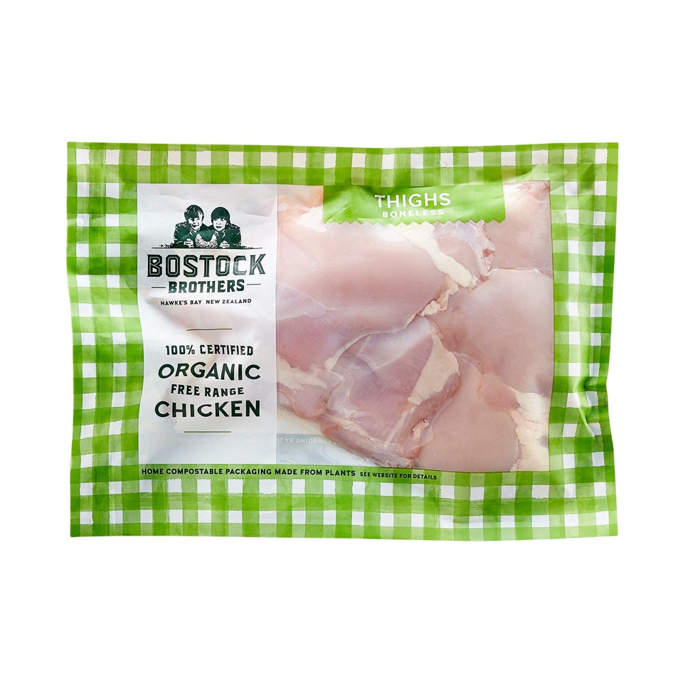 Organic Free-Range Chicken Thighs Boneless/Skinless