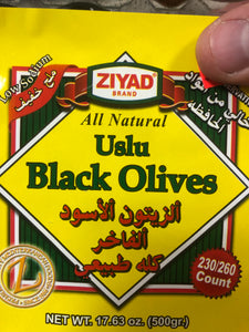 USLU BLACK OLIVES 17.63OZ
