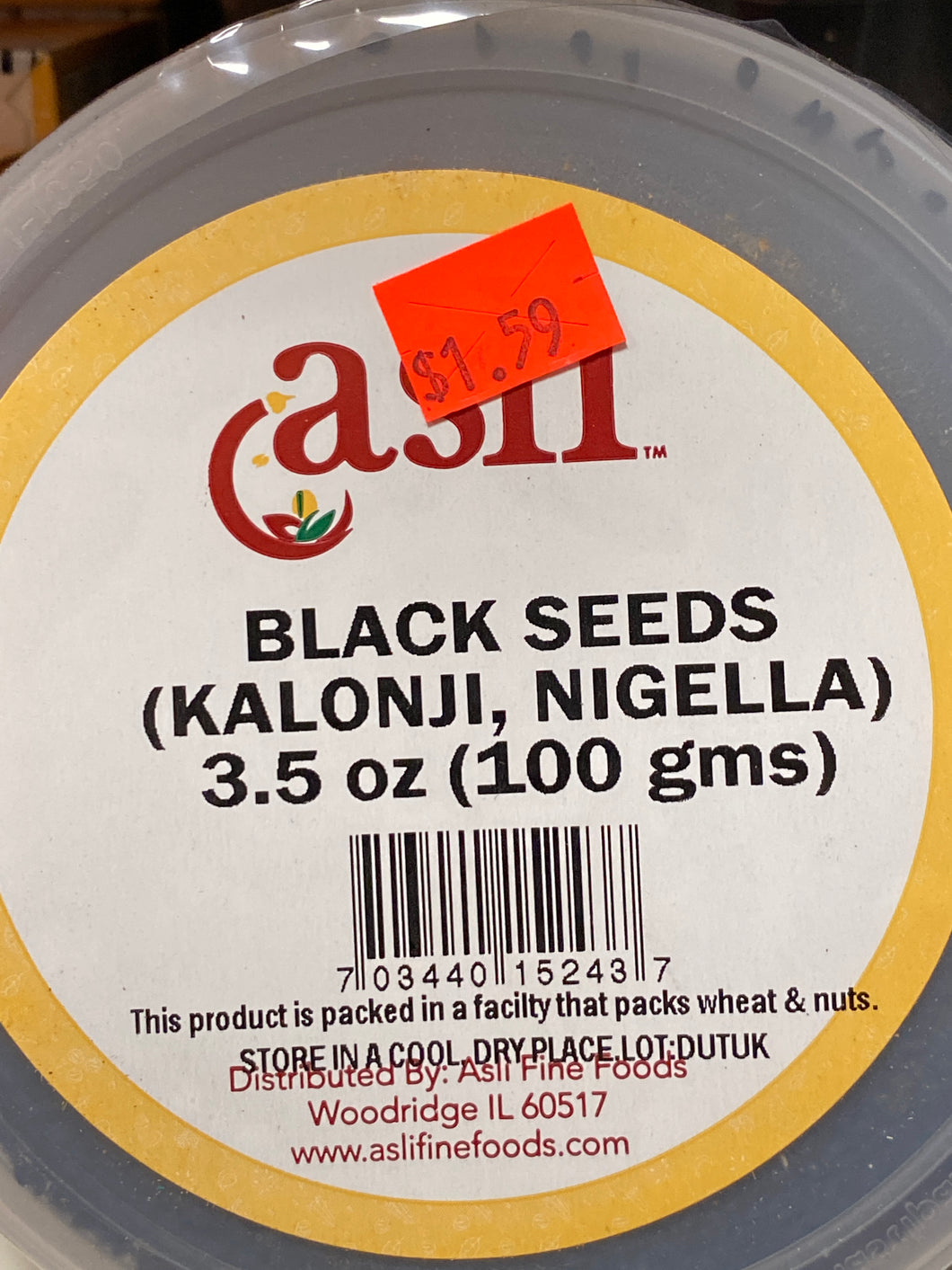 BLACK SEEDS KALONJI SEEDS 3.5 OZ