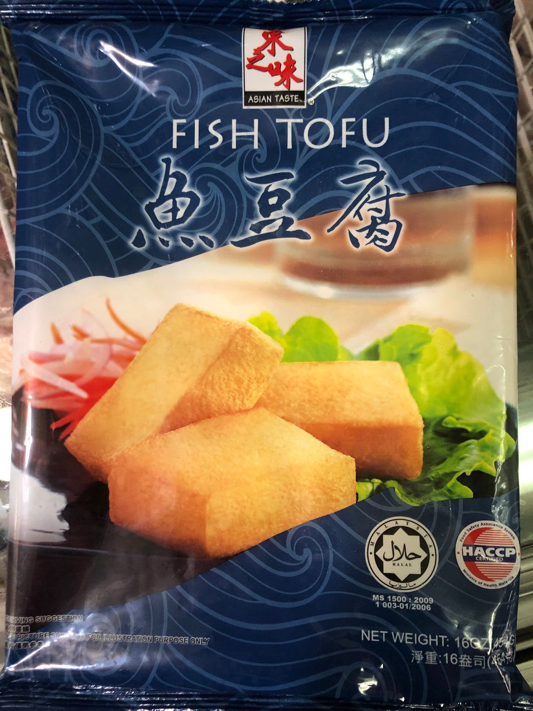 冻鱼豆腐 FROZEN ASIAN TASTE FISH TOFU 16OZ