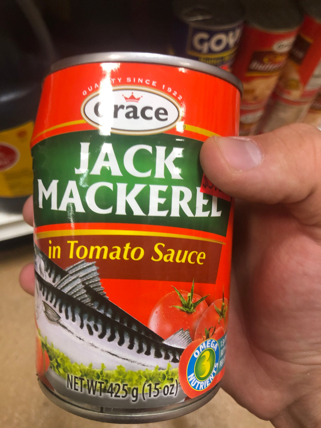 GRACE JACK MACKEREL IN TOMATO SAUCE 15 OZ (CANNED)