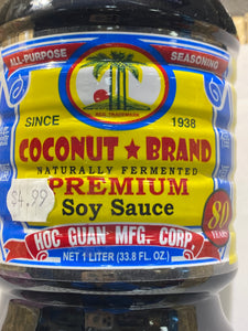 COCONUT BRAND SOY SAUCE 1 LITER