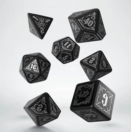 Dice: Bloodsucker Black & Silver Dice Set