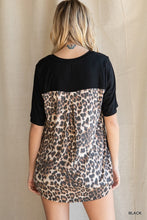 Load image into Gallery viewer, Leopard Print Back Short Sleeve Top