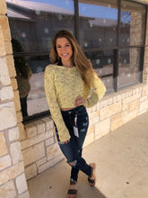 Load image into Gallery viewer, Leelee Yellow Sweater
