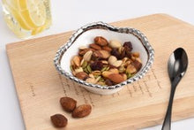 Load image into Gallery viewer, Snack Bowl/White/Silver Trim