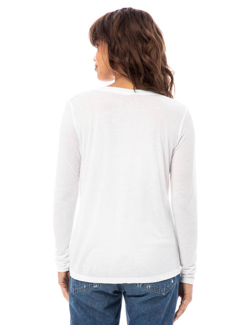 SLINKY V-NECK LONG SLEEVE