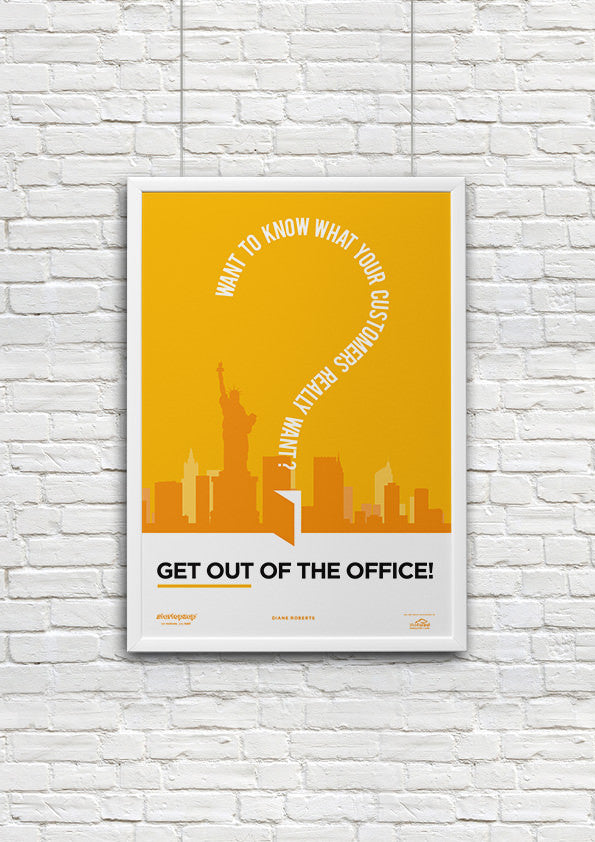 posters for the office. Get Out Of The Office | Startup Poster Motivational Art - Startupzap Posters For