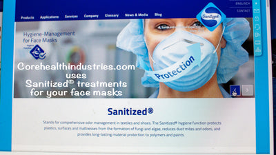 Why should you choose Sanitized® treated face mask by Core Health Industries?
