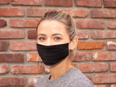 Antimicrobial Reusable Cloth Face Mask - Pictured in Obsidian Black - Core Health Industries