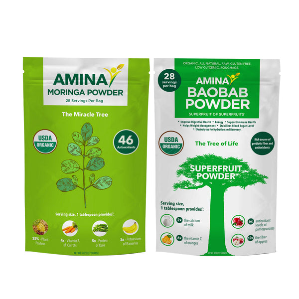 Amina Baobab & Moringa Powder Bundle