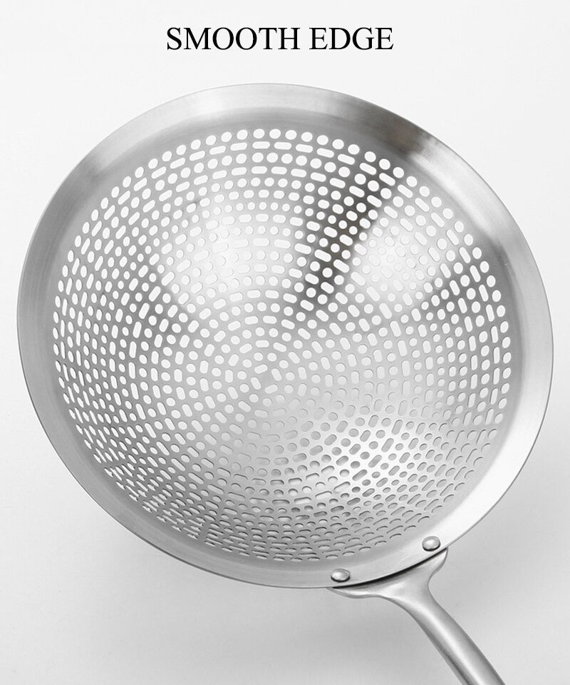 Cooking Skimmer Of 304 Stainless Steel With Long Handle