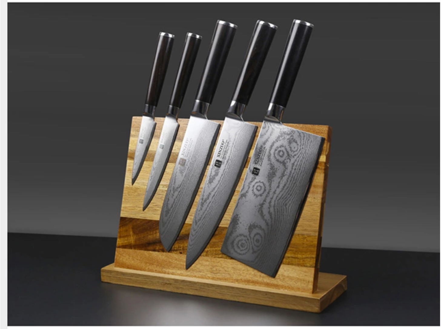 Magnetic Knife Rack Acacia Wood