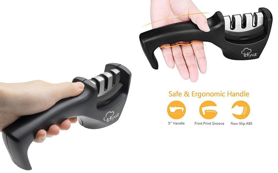 3 Stage Manual Knife Sharpener | My Home Essentials