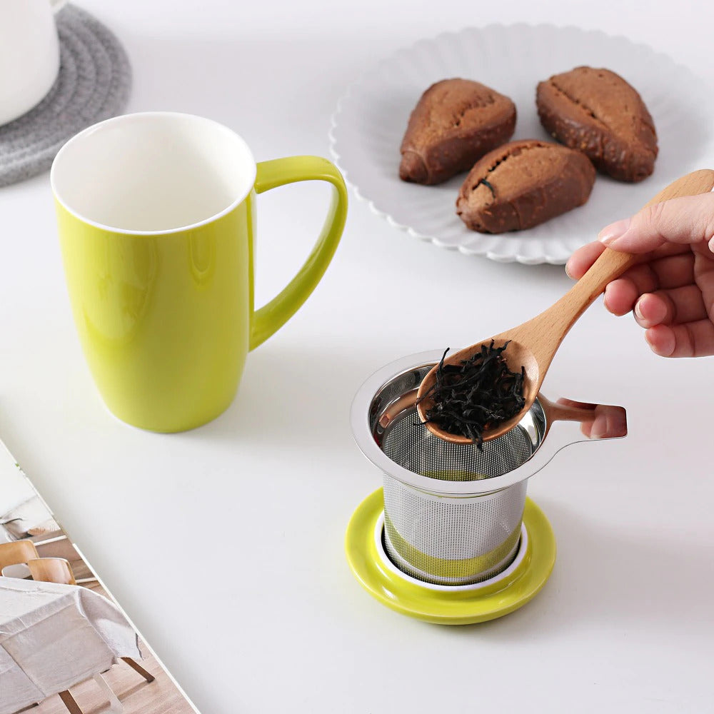 Tea Mug Cup with Lid And Infuser Filter