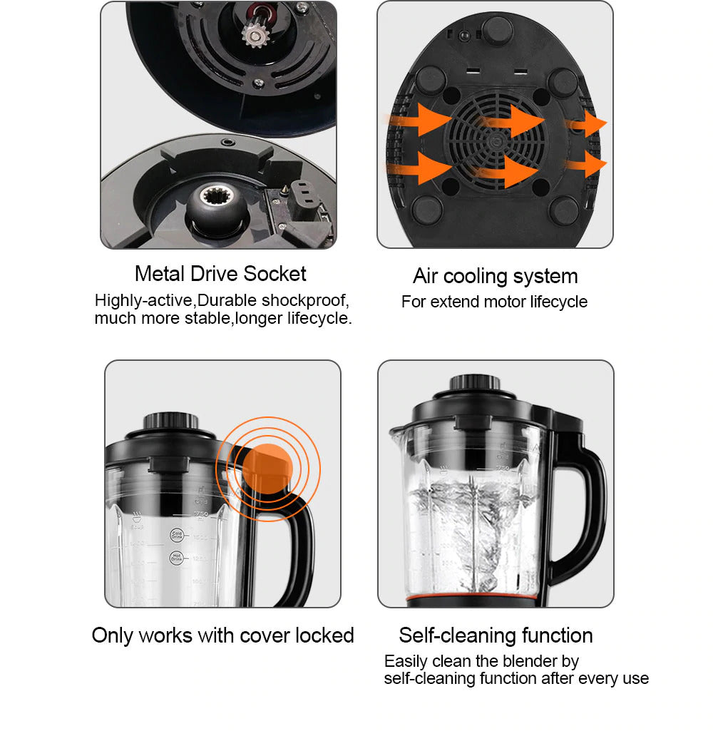 1.75L Blender With Heating Function