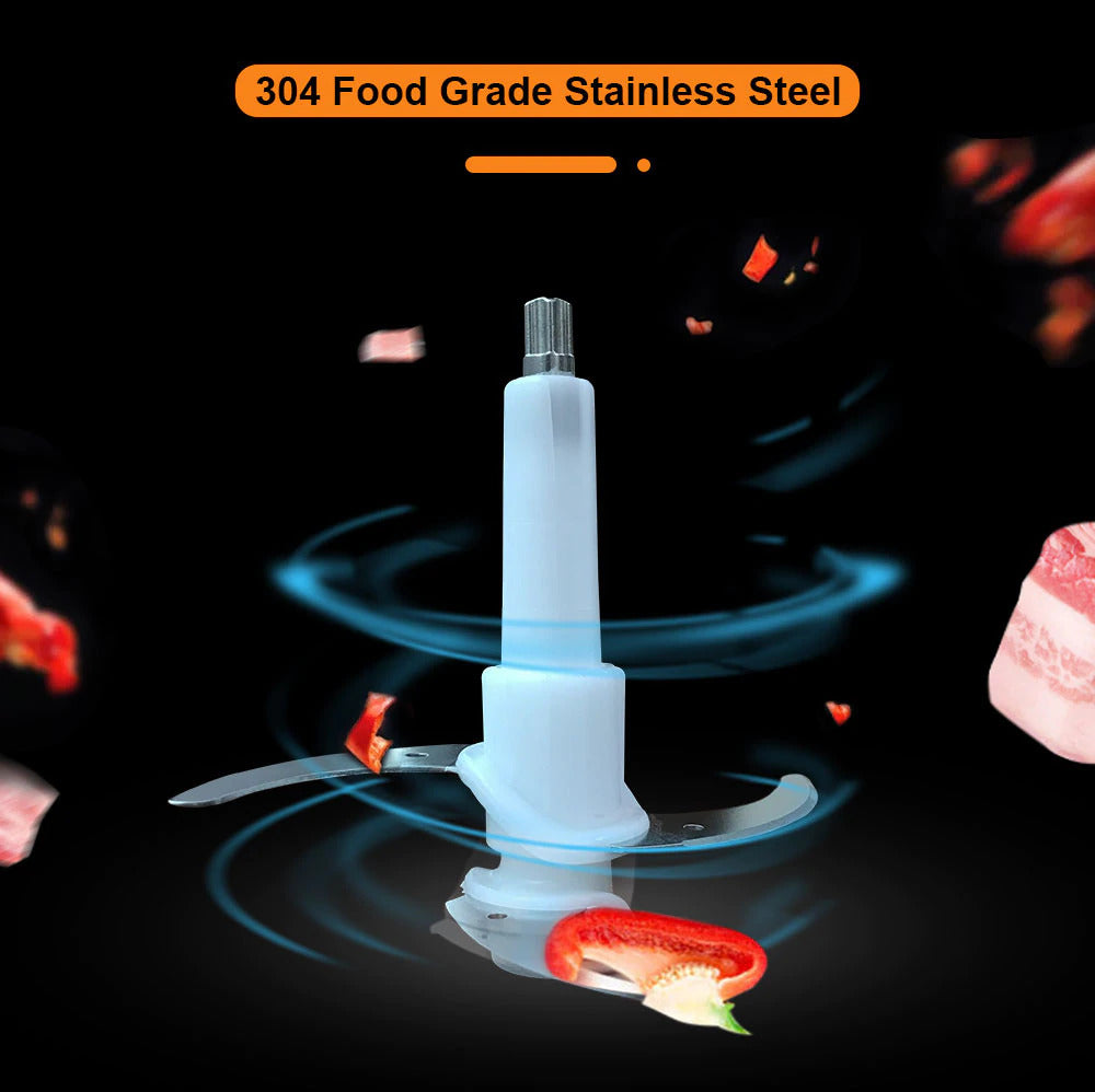 Electric Food Chopper, Meat Grinder with Stainless Steel Motor