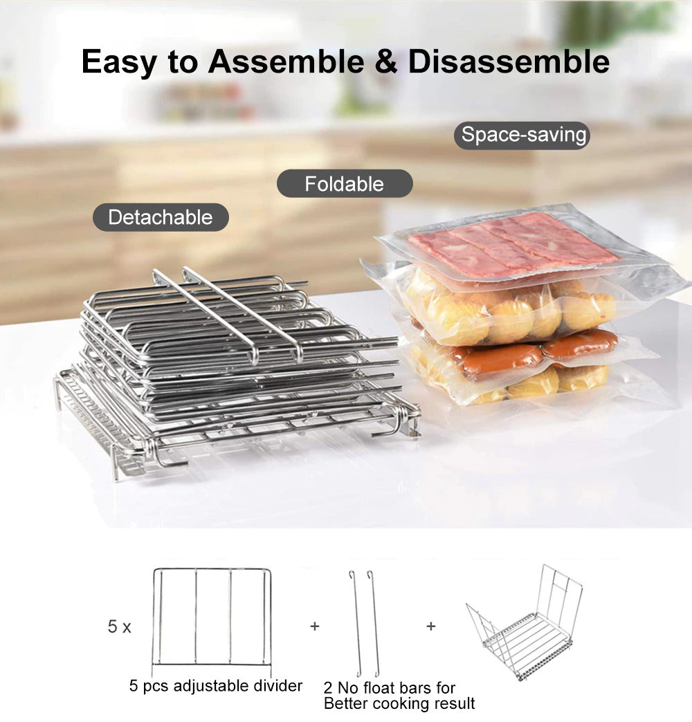 Sous Vide Container with Lid 11 Liter And Rack