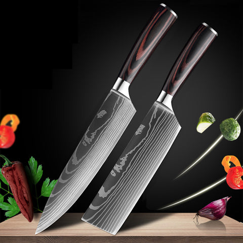 Japanese Kitchen Knives - Stainless Steel Blades Chef knives Set