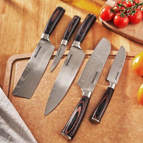 Japanese Chef Knives Set Stainless Steel